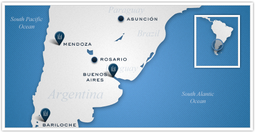 Leading Hotels of the World Argentina Map