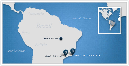 Leading Hotels of the World_Brazil Map