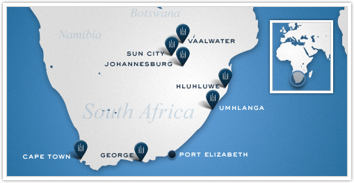 Leading Hotels of the World_South Africa Map